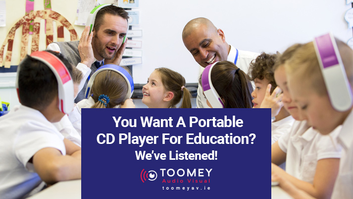 Portable CD Player For Education - Toomey Audio Visual