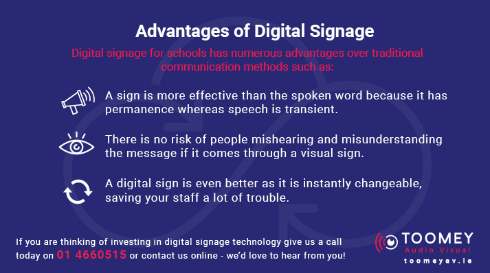 Advantages of Digital Signage for Schools
