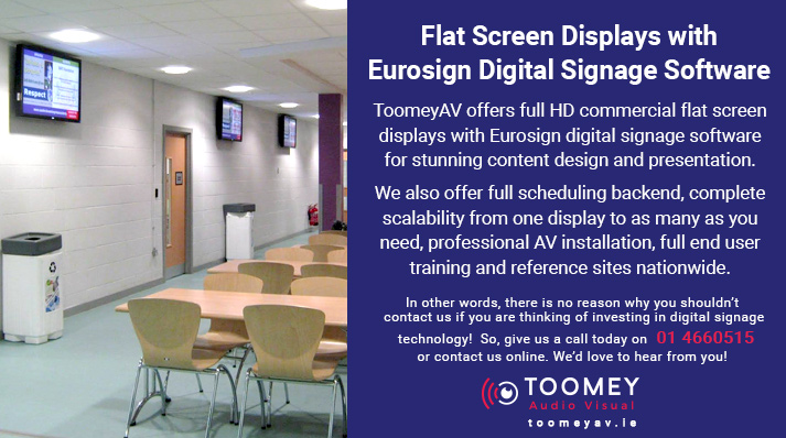 Eurosign Digital Signage Software Ireland - Toomey AV