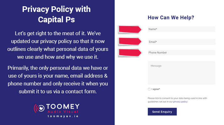 GDPR Privacy Policy - Toomey AV