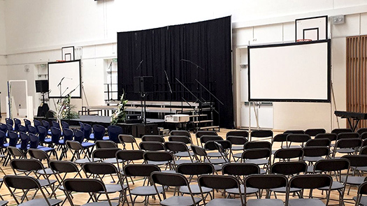 Hall School - Long Projector and AV System - Toomey AV Ireland