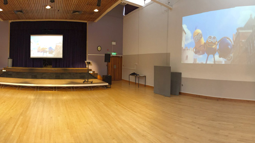 Hall School - Long Projector and AV System - Toomey