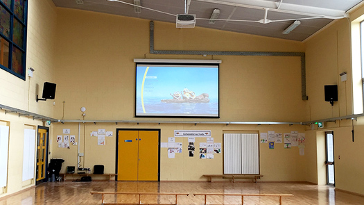 Long Projector and AV System - Hall School - Toomey