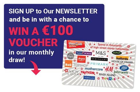 Win a Voucher - Toomey AV Monthly Prize Draw