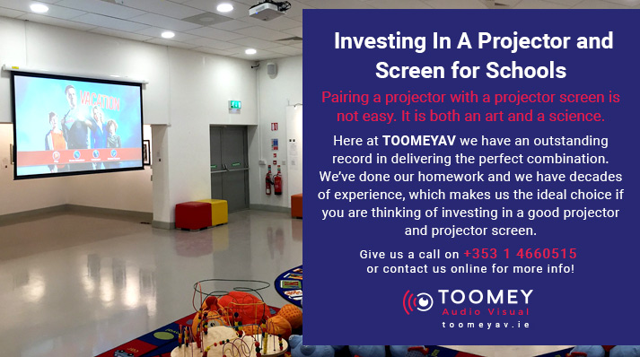 Investing in a projector screen for schools - Toomey Audio Visual