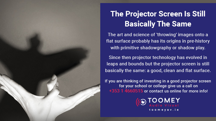 Origins of the Projector Screen - Toomey Audio Visual