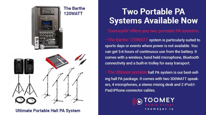 Portable PA Systems for Education - Toomey AV