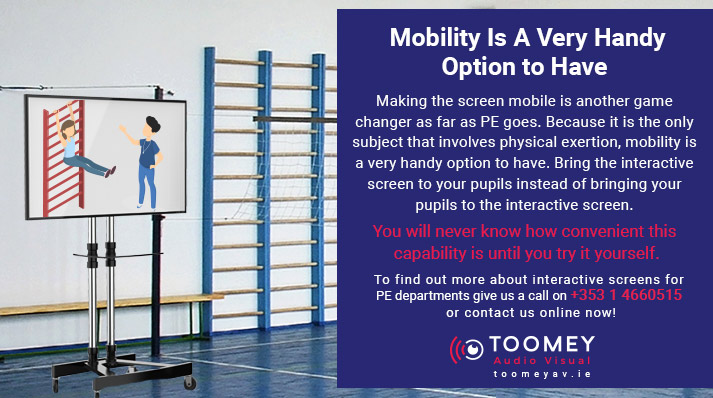 Interactive Flat Screens for PE Departments - Toomey Audio Visual