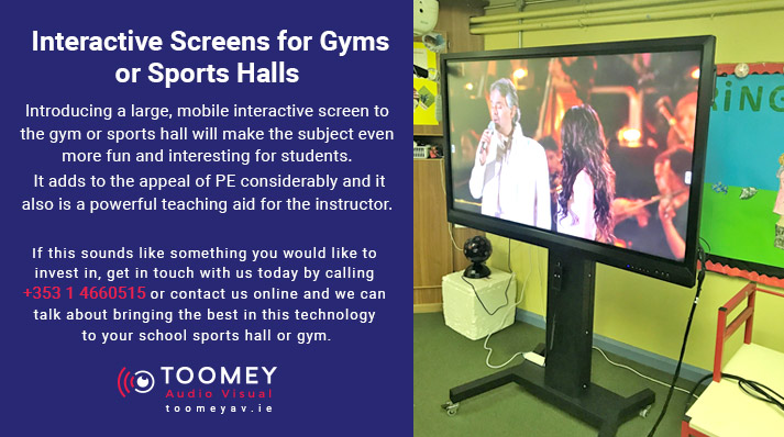 Interactive Screen for Gym or Sports Hall - Toomey Audio Visual Ireland