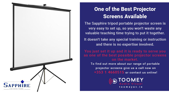 Best Portable Projector Screen for Schools