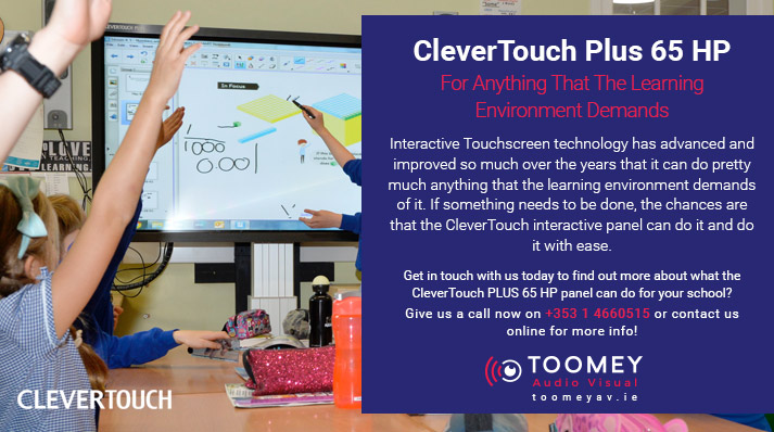 CleverTouch Plus 65 HP - The Modern Interactive Panel for the Modern School