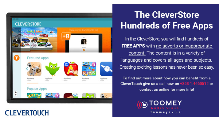 The CleverStore - Apps for CleverTouch Interactive Flat Screens