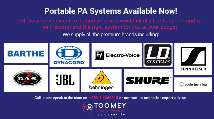 Portable PA Systems Available in Ireland - Toomey AV