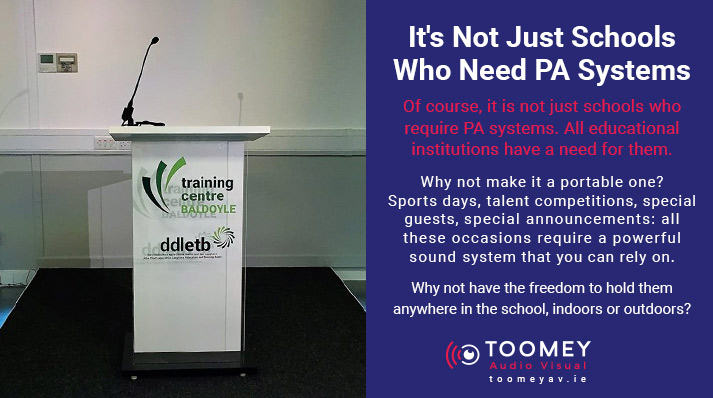 Portable PA Systems for Colleges - Toomey AV