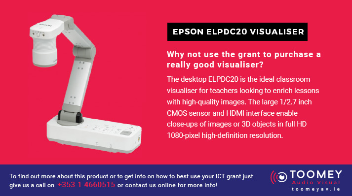 EPSON ELPDC20 Visualiser for Schools - ICT Grant Recommendations - Toomey AV Ireland