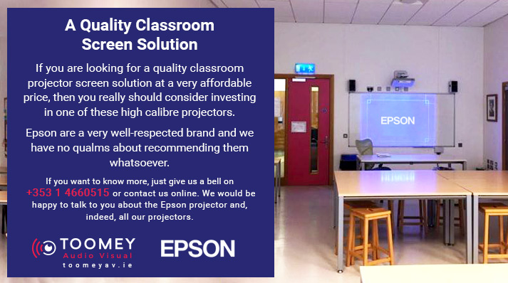 EPSON Projector Screens for Classrooms - Toomey AV Ireland