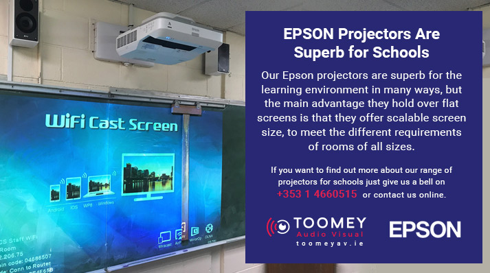EPSON Projectors for Schools - Toomey AV Ireland