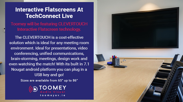 Interactive Flatscreens At TechConnect - Toomey Audio Visual