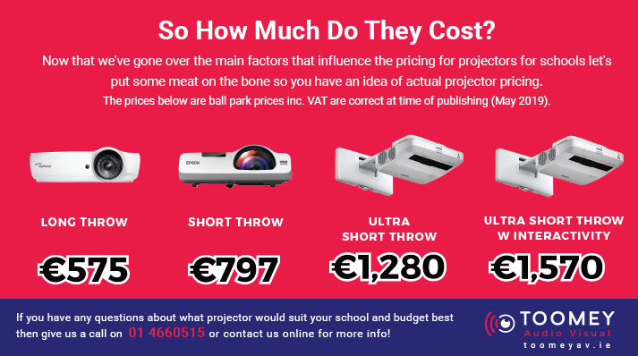 Projector Prices - Ireland - Projectors for Schools - Toomey AV