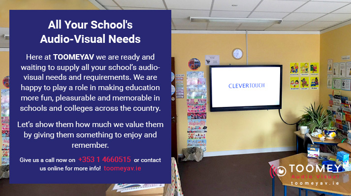 Audio Visual For Schools Ireland- Toomey AV