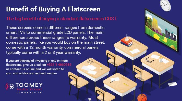 Benefit of Flatscreen for Classrooms - Toomey AV