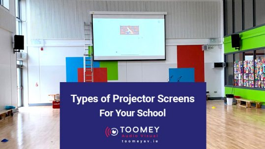 Types of Projector Screens for Your School - Toomey AV