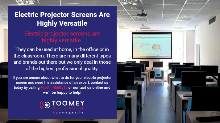 Electric Projector Screen Versatility - Toomey AV