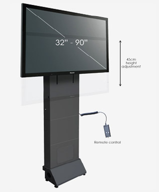 Electric Height Adjustable Stand - Flatscreen Stands - Toomey AV Ireland
