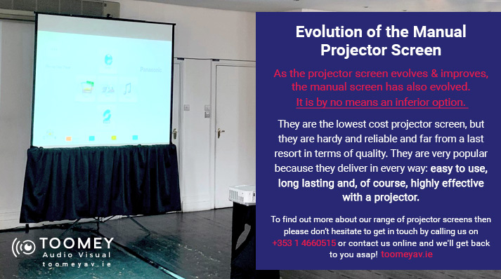 Evolution of the Manual Projector Screen - Toomey Audiovisual Ireland