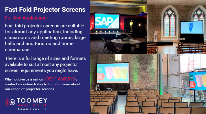Fast Fold Projector Screens - Large Halls - Auditoriums