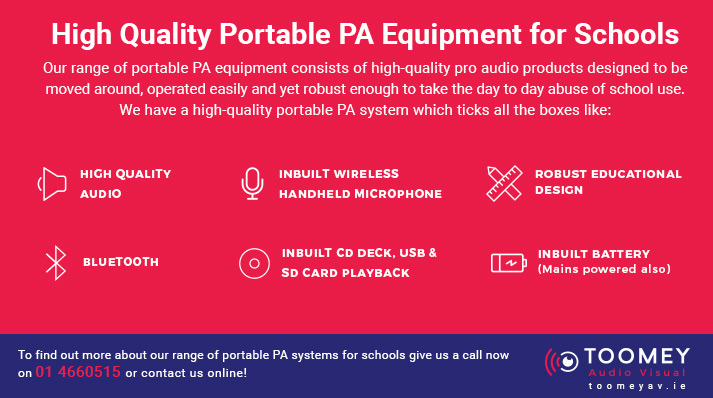 High Quality Portable PA for Schools - Toomey AV