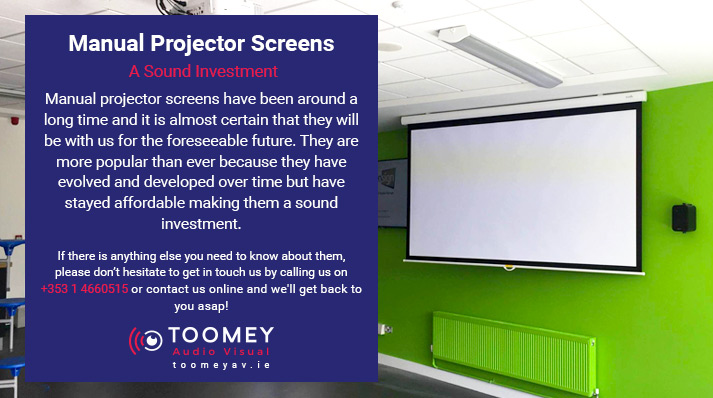 Manual Projector Screens - A Sound Investment - Toomey Audiovisual