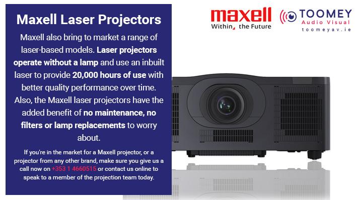 Maxell Laser Projectors - Toomey AV - Ireland