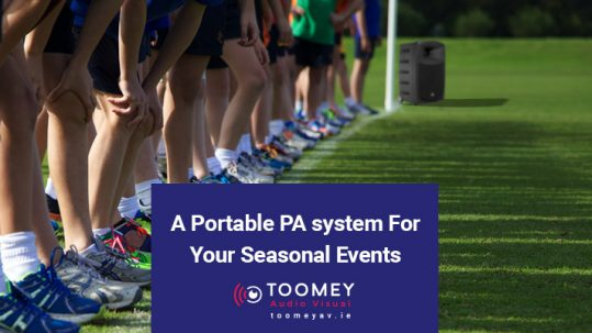 Portable PA System for Seasonal School Events - Toomey