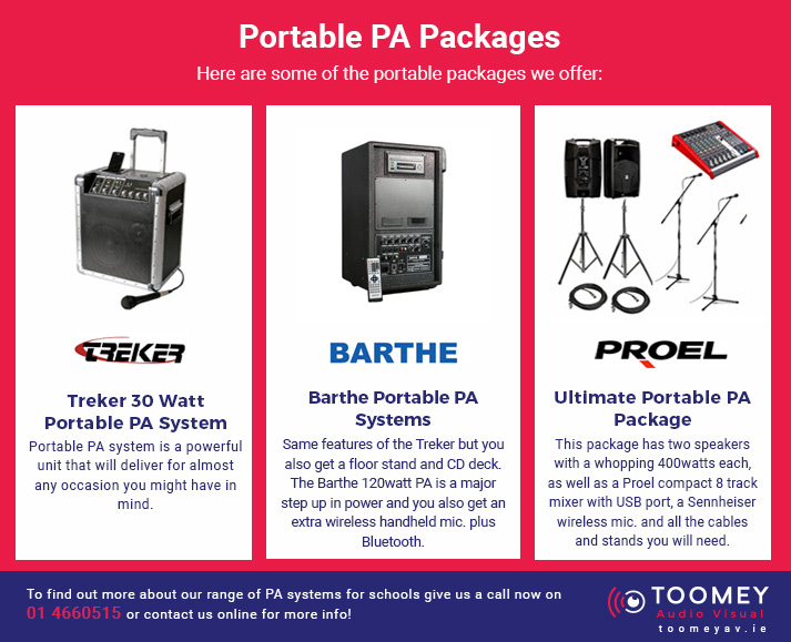 Portable PA Packages for Schools - Toomey AV