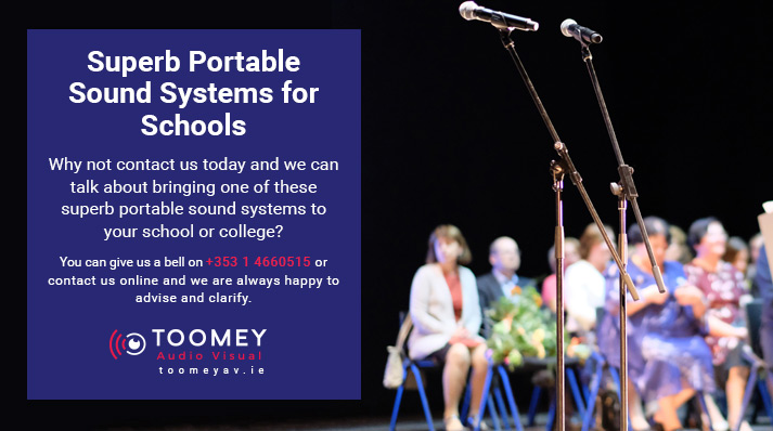 Sound System for Schools Events - Toomey AV Dublin