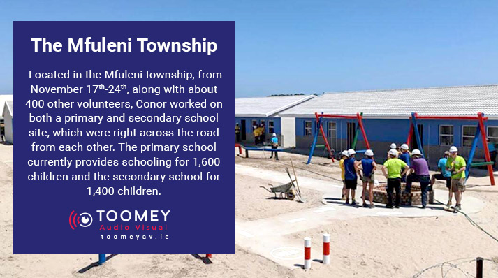 Mfuleni Township - School Building Project South Africa - Toomey AV Supports