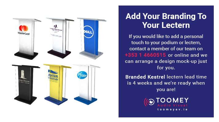 Add Branding to Lectern - ToomeyAv - Dublin