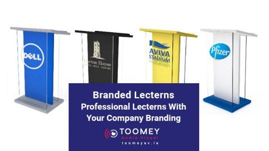 Branded Lecterns with Company Branding Ireland - ToomeyAV