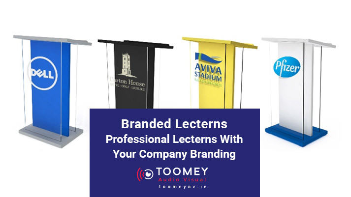 Branded Lecterns with Company Branding Ireland - ToomeyAV