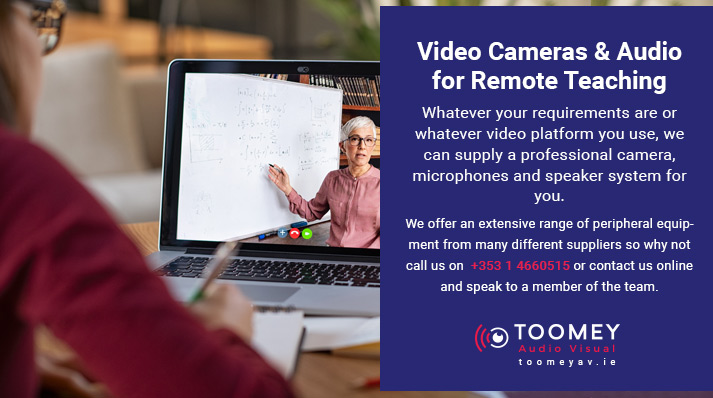 Video Cameras and Audio for Remote Teaching - Toomey Audiovisual