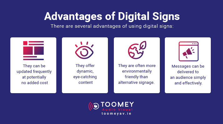 Advantages Digital Signage for Schools - Toomey AV Ireland