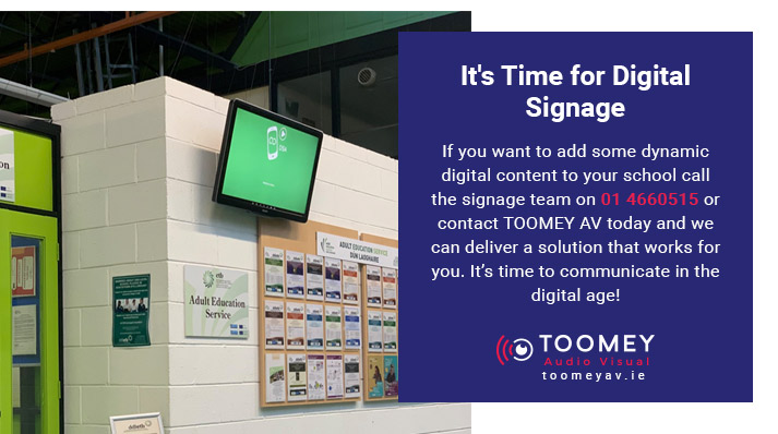 Digital Signage for Schools - Toomey AV Dublin