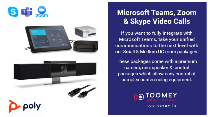 Microsoft Teams, Zoom, Skype Video Calls - Toomey AV Dublin