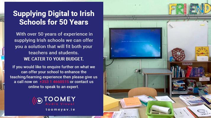 Supplying Digital to Irish Schools - Toomey AV Ireland