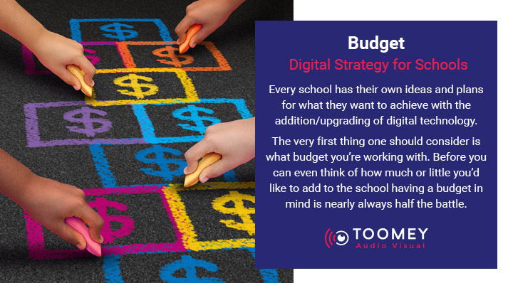 Budget for Digital Strategy for Schools - Toomey AV Ireland