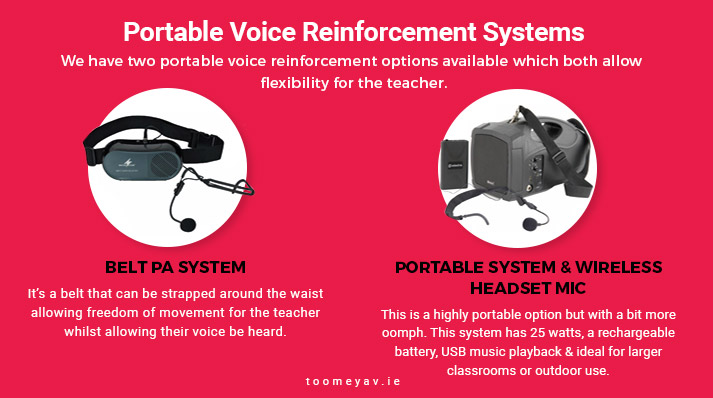 Portable Voice Reinforcement Systems for Classrooms - Toomey AV Ireland