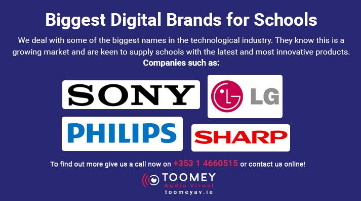 Sony, Philips, Sharp brands for Schools - Audiovisual - Toomey Dublin