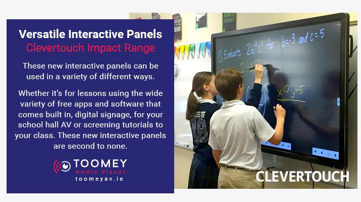 Versatile Interactive Flatscreens - Clevertouch