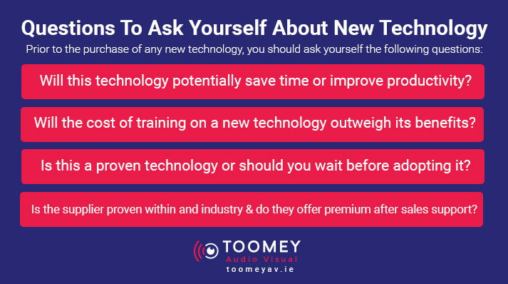 Questions to ask before buying new technology